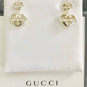 New Authentic Gucci Love Britt Sterling Earrings